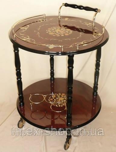 Столик бар для напитков круглый TC001R
