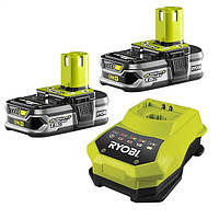 ✅ Аккумулятор+зарядное устройство Ryobi One+ RBC18LL15 18V 2x1.5A/h