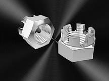 Гайка М5 ГОСТ 5918-73, DIN 935, прорезная и корончатая