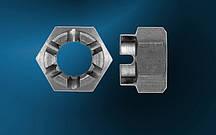 Гайка М10 ГОСТ 5918-73, DIN 935, прорезная и корончатая