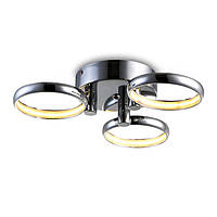 Декоративный светодиодный светильник, крепление на потолок. Светодиод 3*6W в комплекте. Блок питания в корпусе