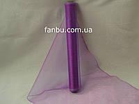 Органза флористическая на метраж,цвет фиолетовый (ширина 36-38см)