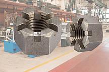 Гайка М22 ГОСТ 5918-73, DIN 935 прорезная и корончатая