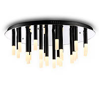 Потолочный светодиодный светильник, основание - хром, светорассеиватели - акрил, светодиод CREE LED 24X3W