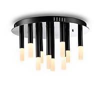 Потолочный светодиодный светильник, основание - хром, светорассеиватели - акрил, светодиод CREE LED 10X3W