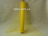 Органза флористическая на метраж,цвет желтый (ширина 36-38см)