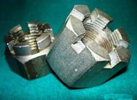 Гайка М33 ГОСТ 5918-73, DIN 935, прорезная и корончатая