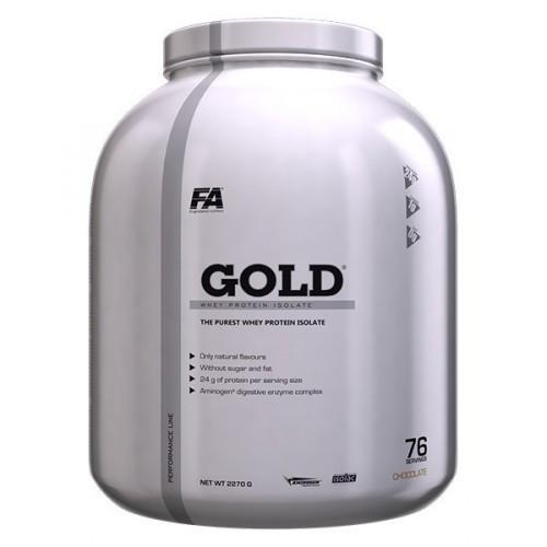 Протеины Изолят Fitness Authority Gold Whey Protein Isolate  2,3kg strawberry banana