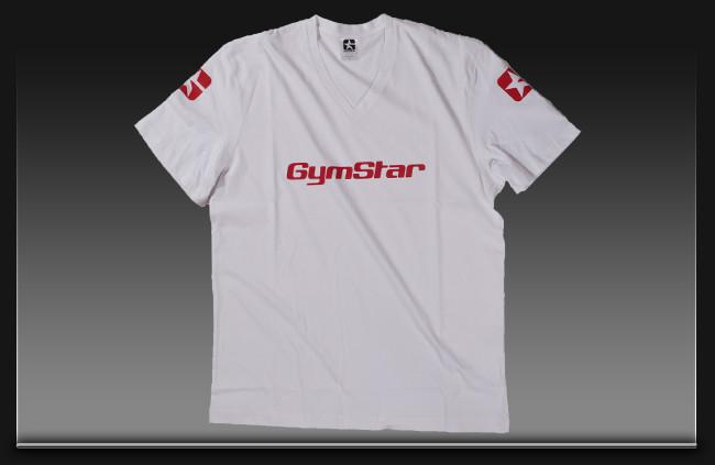 """Футболка GYM STAR """"Muscle Boss"""" размер S (белая)"""