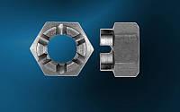 Гайка М48 ГОСТ 5918-73, DIN 935, прорезная и корончатая