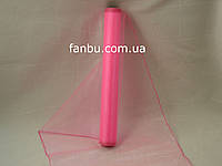 Органза флористическая на метраж,цвет ярко розовый (ширина 36-38см)