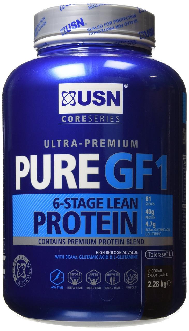 Протеины Многокомпонентные USN nutrition Pure Protein GF-1  2,28 kg vanilla cream