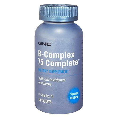 Витамин Б GNC B-COMPLEX 75 COMPLETE 60 caps