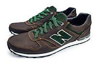Кожаные кроссовки NB cruz brown, фото 1
