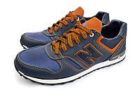 Мужские кожаные кроссовки NB cruz blue, фото 1