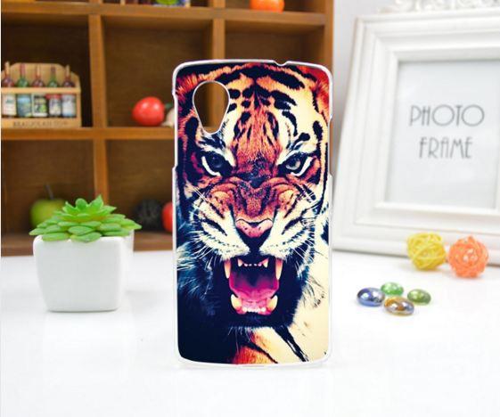 Чехол для LG Nexus 5 панель накладка с рисунком тигр