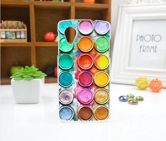 Чехол для LG Nexus 5 панель накладка с рисунком краски