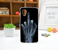 Чехол для LG Nexus 5 панель накладка с рисунком рука
