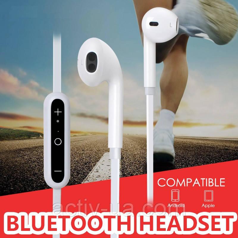 Спортивна бездротова стерео гарнітура T831A з мікрофоном, Bluetooth 4.0 + EDR, колір білий