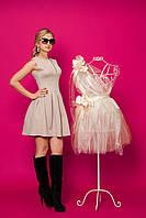Коктельное и игривое платье с пышной юбкой в складочки., фото 1