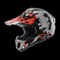 Кросс шлем LS2 MX433 BLAST WHITE ORANGE размер S
