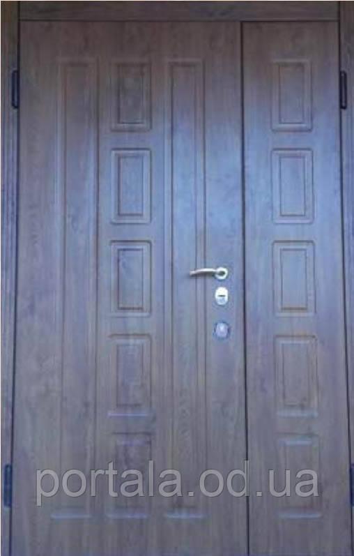 """Вхідні металеві полуторне двері """"Порталу"""" (Комфорт) ― модель Квадро"""