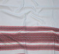 Ткань с украинским орнаментом СтефанияТДК-81 1/1 рушникова тканина, тканина на рушники