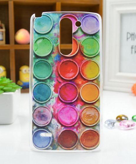 Чехол для LG G3 Stylus/D690 панель накладка с рисунком краски