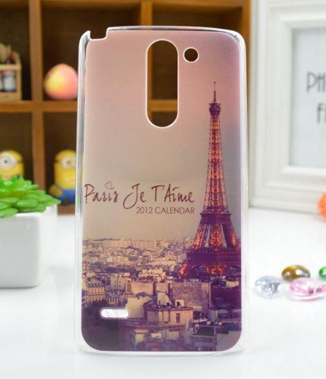 Чехол для LG G3 Stylus/D690 панель накладка с рисунком Париж