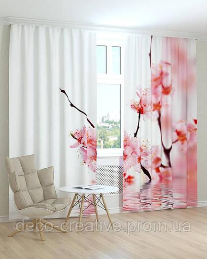 Фотошторы цветы сакура
