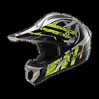 Кроссовый шлем LS2 MX433 STRIPE BLACK HI-VIS YELLOW размер ХL