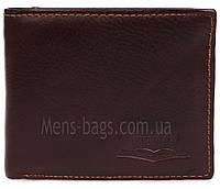 Кошелек- бумажник мужской кожаный коричневый