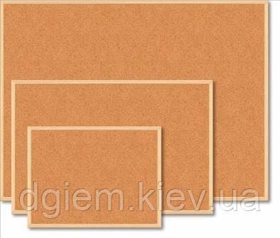 Доска пробковая 60х90см деревянная рамка