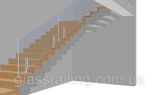 3D-визуализация ограждения лестницы