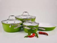 Набор посуды HILTON FP 2450 зеленый 7 предметов