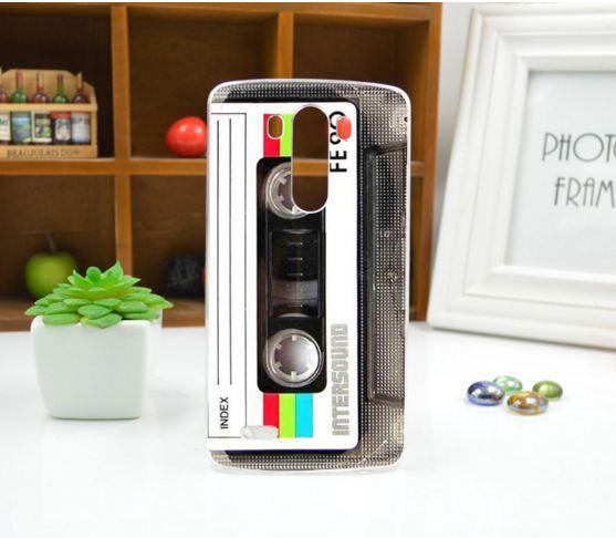 Чехол для LG G3/D855 панель накладка с рисунком кассета