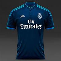 """Футбольная форма 2015-2016 Реал Мадрид (Real Madrid) """"RONALDO №7"""", выездная, синяя, н6"""