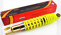 """Амортизатор GY6, DIO ZX 310mm, регулируемый """"NDT"""" (лимонный)"""