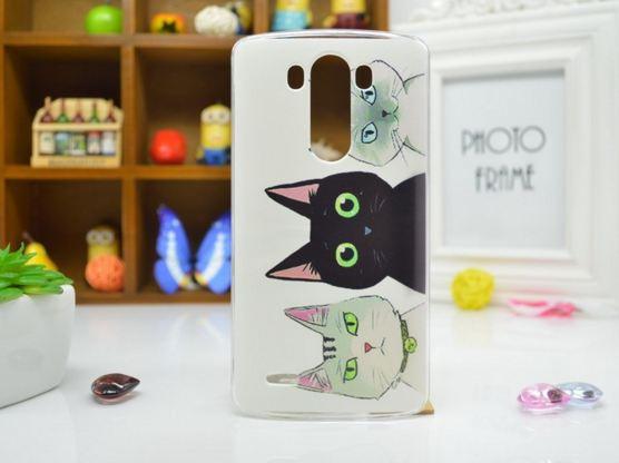 Чехол для LG G3s/D724/G3 mini панель накладка с рисунком три кота