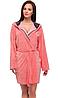 Жіночий домашній халат середньої довжини у сірому кольорі L&L Colette, фото 4