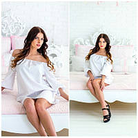 Женское хлопковое белое платье IO-174