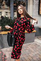 Женское строгое летнее платье Cherry., фото 1
