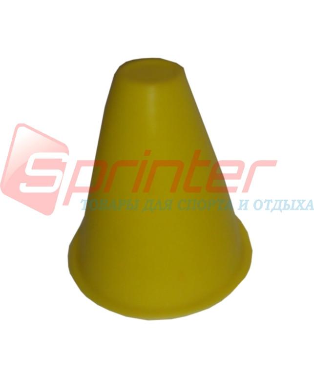 Фишка напольная для роллеров. 9 см желтый.