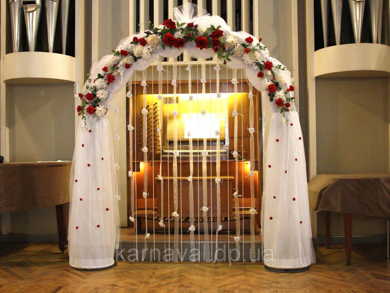 Свадебные арки из искусственных цветов