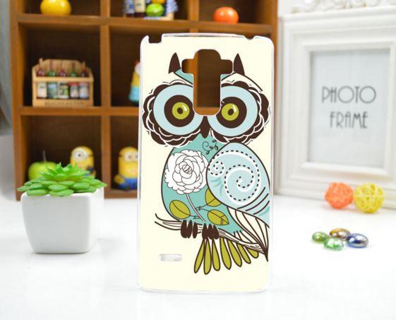 Чехол для LG G4 Stylus/H630 панель накладка с рисунком сова