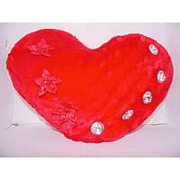 Красная подушка валентинка со стразами, мягкая декоративная подушечка, подушка сердце, мягкая валентинка