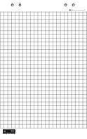 Блок бумаги для флипчарта 10л клетка