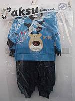"""Детский костюм на мальчика (0,5 - 1 год) """"Kapitoshka"""" купить оптом со склада 7км LM 749"""
