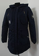 Куртка-парка молодежная весенняя синяя