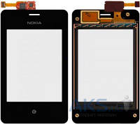 Сенсор (тачскрин) для Nokia Asha 502 Dual Sim with frame Original Black